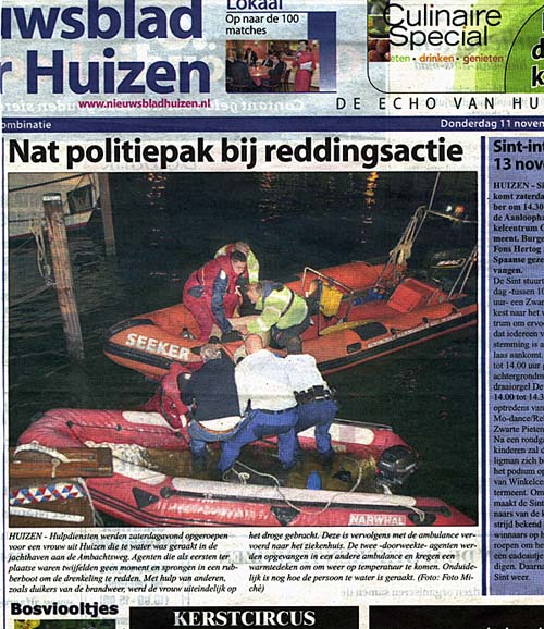 radio verkeer 6 november 2010 persoon te water